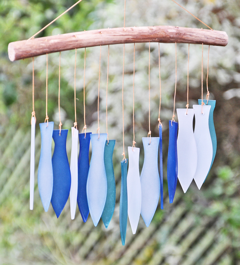 Glass fish wind chime for Fish wind chimes