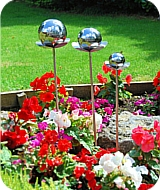 Flowers Gazing Balls (Set 2)