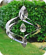 Crystal Helix Wind Spinner