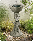 Wood Nymph Birdbath