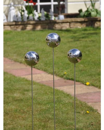 Captivating 3 Stainless Steel Balls   View 1