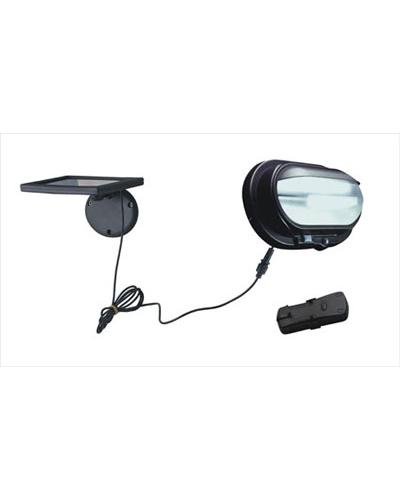 Solar powered shed security outdoor light wall spot street garden utility light view1 aloadofball Images